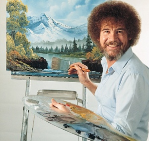 Bob Ross, a genuine legend.